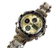 Orologio Da Polso CS B-205 Uomo Analogico Digitale Cronografo Quarzo Oro lac
