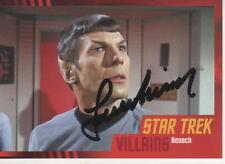 LEONARD NIMOY HAND SIGNED 2013 STAR TREK HEROES & VILLAINS #57 - SPOCK / HENOCH