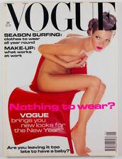 Kate Moss RED VERNER PANTON CHAIR Helena Christensen VOGUE magazine 1995 January