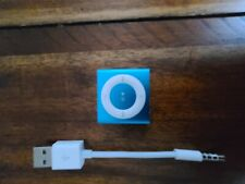 Apple iPod Shuffle 2gb Blue 4th Gen Mp3 Player - Rarely Used