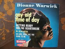 EP DIONNE WARWICK - Any Old Time Of Day +3   Vogue‎– EPL 8214  France  (1964)