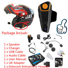 Waterproof Motorcycle Wireless Bluetooth Helmet Intercom Interphone Headset XP