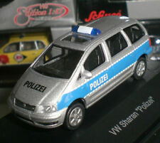06 » SCHUCO VOLKSWAGEN VW SHARAN POLICE AUTO POLICIA ECHELLE 1:87 HO OCCASION