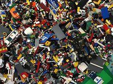 8 lbs Pounds Clean Lego Parts Pieces from HUGE BULK LOT- Bonus  MINIFIGURES 100%