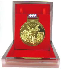 Commemorative 2012 London Olympic Gold Medal Medallion+Ribbon+Case Size 1:1