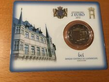 Luxemburg 2 euro 2012 Guillaume in coincard BU