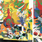 "35W""x46H"" FLEURS ET DOMINOS by ALFRED PELLAN - ACE POKER GAMES FLOWER POT CANVAS"