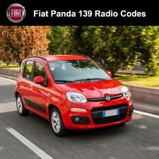 FIAT PANDA RADIO CODICE 139 STEREO decodificare AUTO SBLOCCO SERVIZIO VELOCE Regno Unito tutti i veicoli