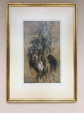Lithograph Collograph by Surrealist Edward A. Stasack Signed and No. 2/6