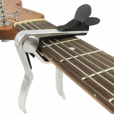 Cejilla Capo Aleación para Guitarra Acústica Electrica with Pick Holder Silver