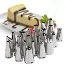 24PCS LARGE ICING PIPING NOZZLES TIPS BOX SET CAKE DECORATING SUGARCRAFT Qing