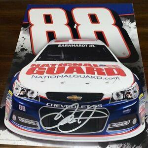 Dale Earnhardt Jr NATIONAL GUARD #88 NASCAR HALL OF FAMER autographed photo