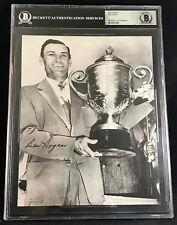 BEN HOGAN 1948 PGA CHAMPIONSHIP W/TROPHY AUTOGRAPH SIGNED 8X10 PHOTO BECKETT BAS