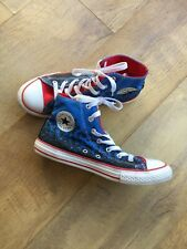 All Star Converse Chuck Taylor Red, White And Blue Trainers Shoes Size 4 Eur 37