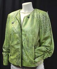 Anthracite Muse blazer light coat zip jacket faux leather reptile moto SZ 10 NEW