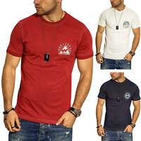Jack & Jones Herren T-Shirt mit Print Kurzarmshirt Herrenshirt Shirt Casual