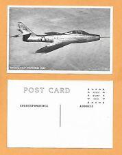 """REPUBLIC F-84F THUNDERJET USAF   POSTCARD 3 1/2 X 5 1/2"""""""