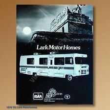1978 TEC Chevrolet Lark RV Motorhome 4 models NOS Dealer Specification Sheet