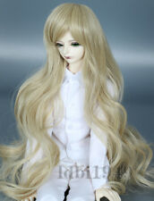 "7-8"" 1/4 BJD Wig DOD SD LUTS MSD Dollfie Doll Wig Long Blonde Curly wig"