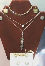 Lot of 9 Sterling Silver Jewelry 925 Necklace, Earrings, Rings, Bracelet ~ CZ