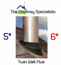 Twin Wall Flue Pipe EPDM Flashing for 10 / 45 degree roofs 100 - 175mm external