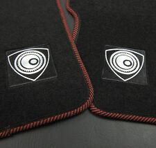 Black Red Nylon Carpet Floor Mats Front Rear 4Pcs Rotary For 04-10 Mazda RX8