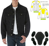 Cafe Racer Motorcycle Kevlar® Lined Denim Jacket Comp Material with CE Armour
