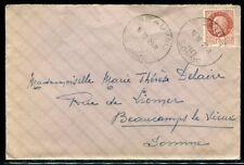Enveloppe de Beauval pour Beaucamps le Vieux en 1942 - ref F190