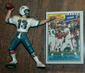 Dan Marino 1998 Kenner action figure & card vintage Miami Dolphins NFL