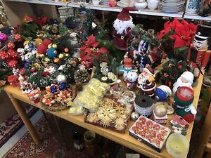 Paket Weihnachten Dekoration Räuchermänner Girlande  Kugeln Deko mit Beleuchtung