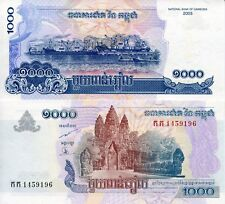Cambodia 1000 Riels Banknote World Money Unc Currency Pick p58a