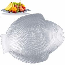 Glass Serving Dish Fish Cheese Sushi Cake Table Centrepiece Platter Tray Plate