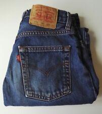 "Herren Levi Levis 575 Webkante Jeans W29 29"" L32 32"" Button Fly Straight Leg EX +"