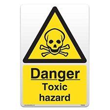 Danger Toxic Hazard - Self Adhesive Vinyl Sticker [A4 - 210mm x 297mm]