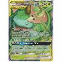 1/236 Venusaur & Snivy TAG TEAM GX Rare Holo GX Card SM12 Cosmic Eclipse Pokemon