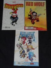 New listing Variant Cover Skottie Young Lot #1 Uncanny Avengers Red Wolf Spider-Woman