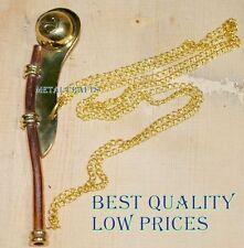 Nautical Brass Copper Bosun Whistle Vintage Ship Boatswain's Navy Call Pipe Mc