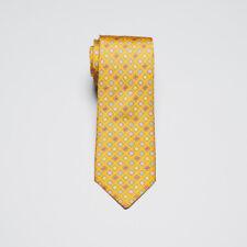 Hermes Paris Silk Necktie Gold Multi Color Diamond Check