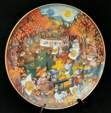 Franklin Mint Flapjack Feast Bill Bell Collectible Plate 24k Gold Medal Mint