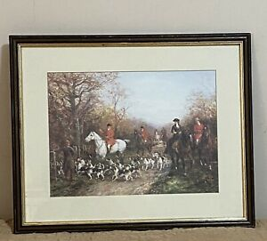 Framed Glass Color Print Painting By Heywood Hardy(1843-1933) -Through The Copse