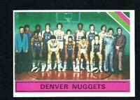 NMT 1975 Topps Basketball #321 Denver Nuggets Team and unmarked CL.