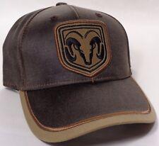 Hat Cap Dodge RAM Truck Patch Dark Brown Khaki OC