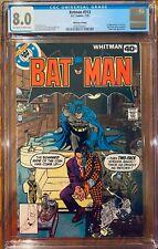 Batman #313 CGC 8.0 1979 (Key 1st App of Tim Fox: Future State Batman)