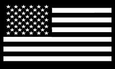 BLACK AND WHITE AMERICAN FLAG USA MILITARY POLITICAL SUPPORT BUMPER STICKER