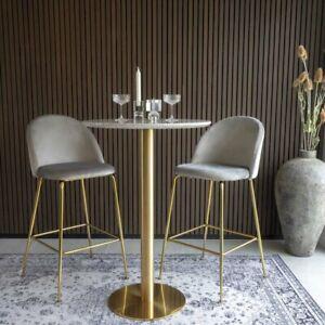 Tischfuß Stehtisch Gold rund 105cm Untergestell Tischfuß Bistrotisch Cafe Lounge