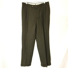Mens Monsieur by Givenchy Dress Pants Size 36 Regular Green W36 L32 Pleated Cuff