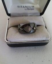 #197 NEW Harley-Davidson ring Titanium by Stamper, size 7