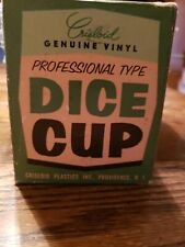 Vintage Crisloid Genuine Vinyl Professional Type Ribbed Dice Cup New in Box