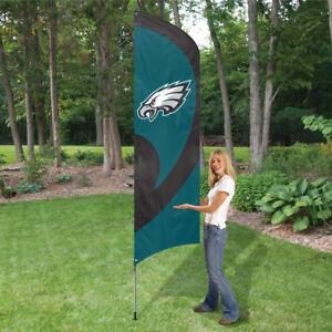 PHILADELPHIA EAGLES 8.5 FOOT TALL TEAM FLAG 11.5' POLE SIGN BANNER  NFL