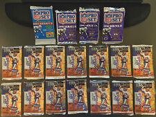 Unopened Football Packs, 1991 Pro Set Series I & II, 1995 Upper Deck Joe Montana